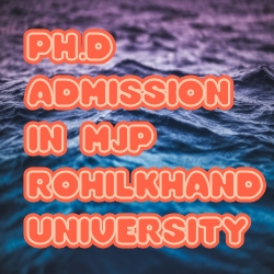 Ph.D Admission in Mjp Rohilkhand University