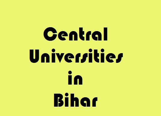 Central Universities in Bihar