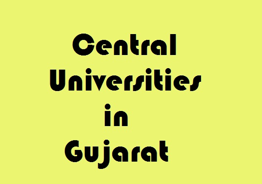 Central Universities in Gujarat