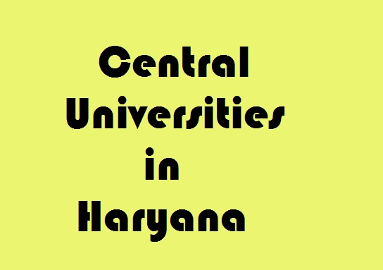 Central Universities in Haryana