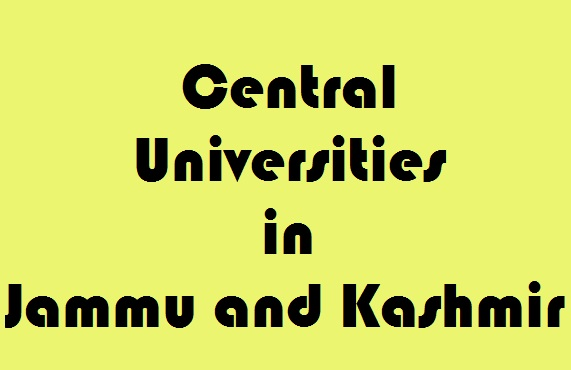 Central Universities in Jammu and Kashmir