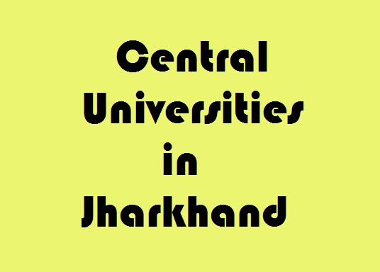 Central Universities in Jharkhand