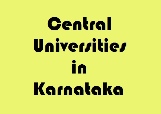 Central Universities in Karnataka