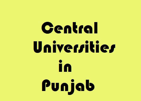 Central Universities in Punjab