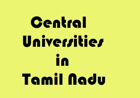 Central Universities in Tamil Nadu