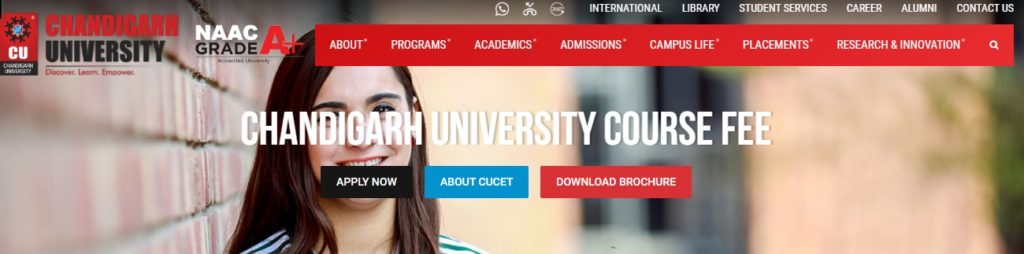 Chandigarh University Course Fee