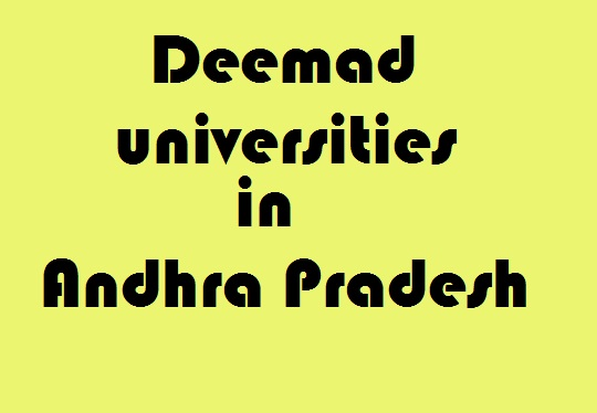 Deemed Universities in Andhra Pradesh