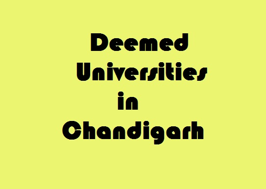 Deemed Universities in Chandigarh