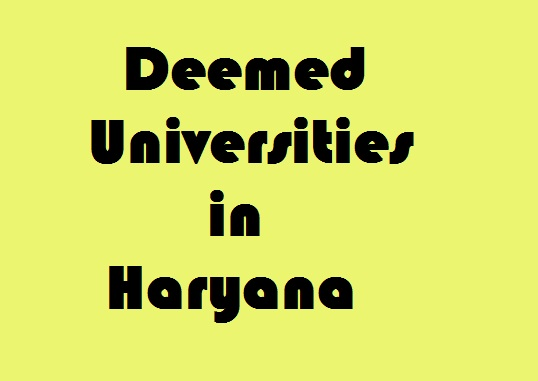 Deemed Universities in Haryana
