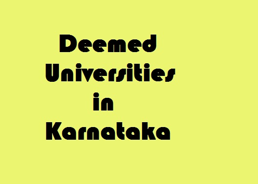 Deemed Universities in Karnataka