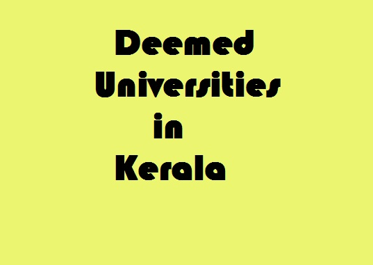 Deemed Universities in Kerala