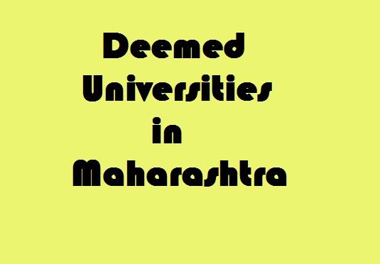 Deemed Universities in maharashtra