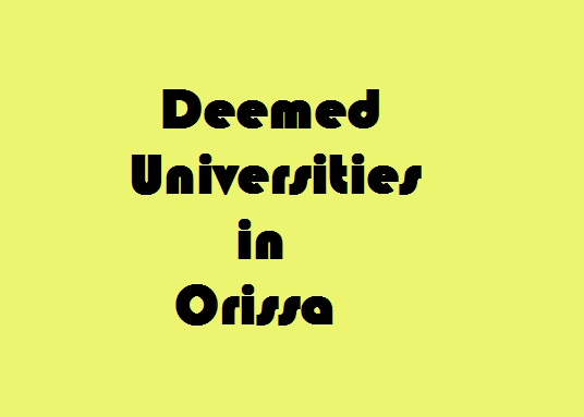Deemed Universities in Orissa