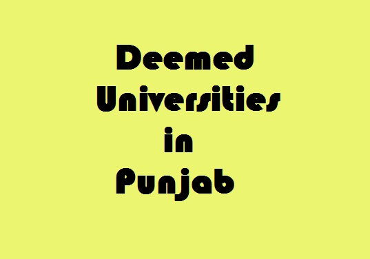 Deemed Universities in Punjab