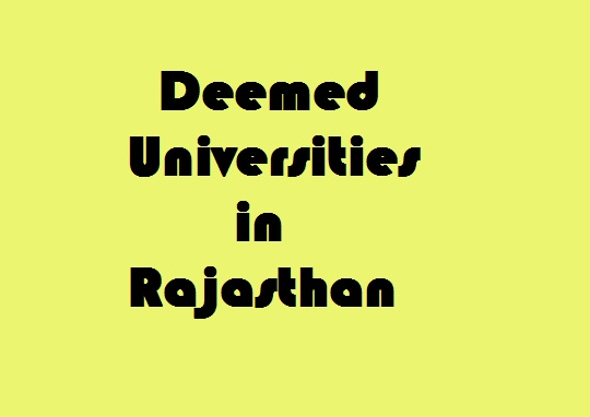 Deemed Universities in Rajasthan