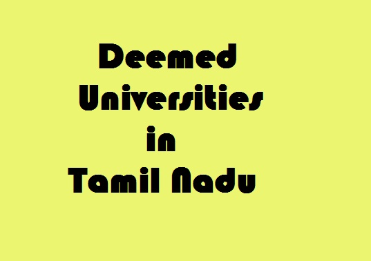 Deemed Universities in tamil nadu