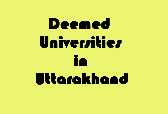Deemed Universities in Uttarakhand