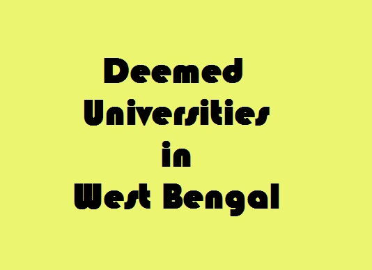 Deemed Universities in West Bengal