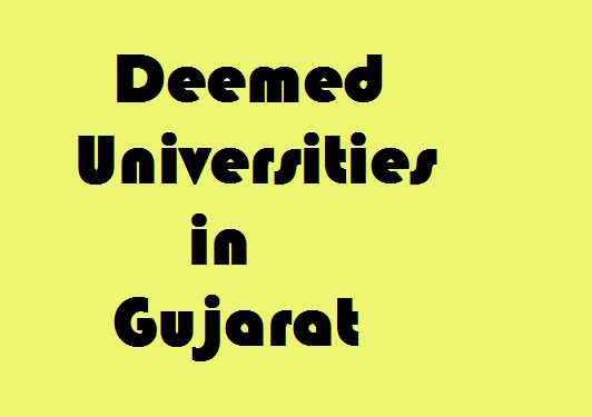 Deemed Universities in gujarat