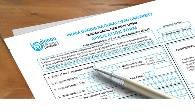 IGNOU online Application Form 2021