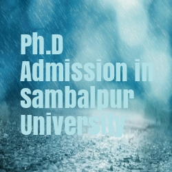 Ph.D Admission in Sambalpur University