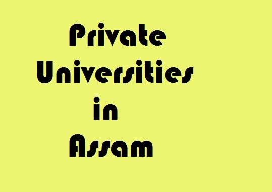 Private Universities in Assam