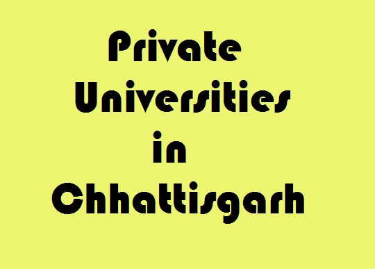 Private Universities in Chhattisgarh