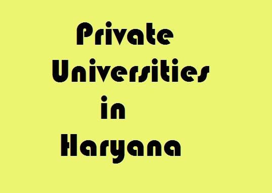 Private Universities in Haryana