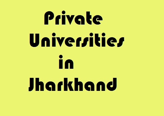 Private Universities in Jharkhand