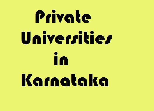 Private Universities in Karnataka