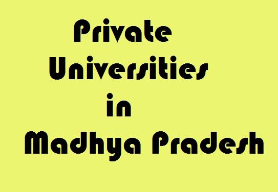 Private Universities in Madhya Pradesh