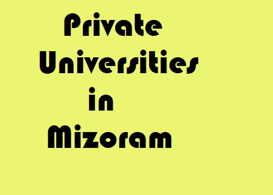 Private Universities in Mizoram
