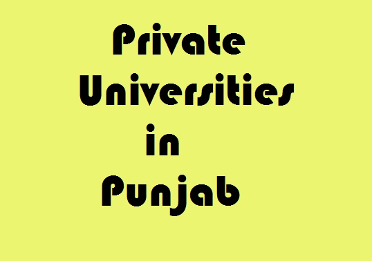Private Universities in Punjab