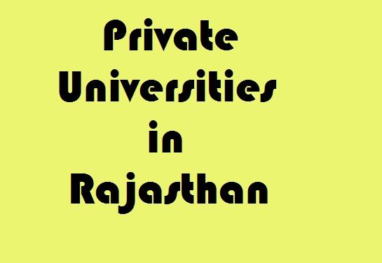 Private Universities in Rajasthan
