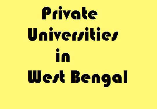 Private Universities in West Bengal