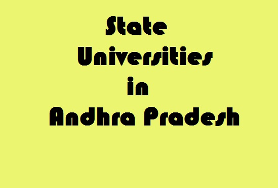 State Universities in Andhra Pradesh