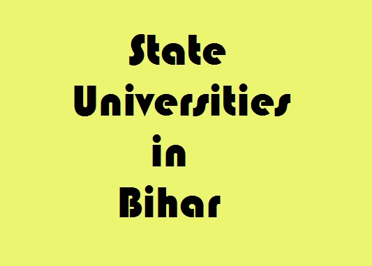 State Universities in Bihar