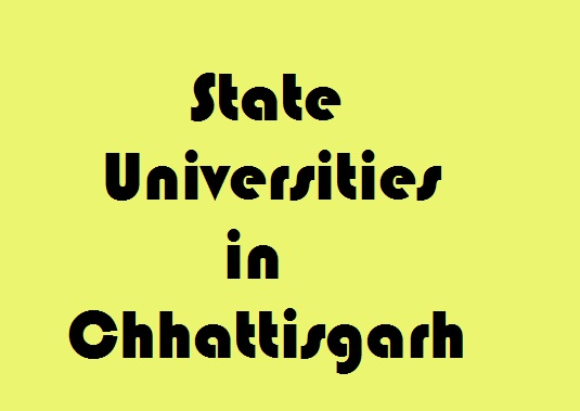 State Universities in Chhattisgarh