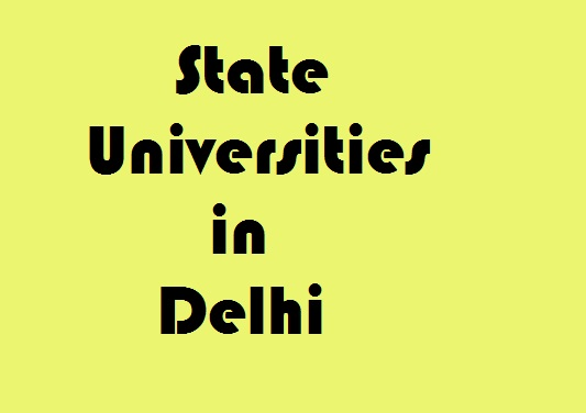 State Universities in Delhi