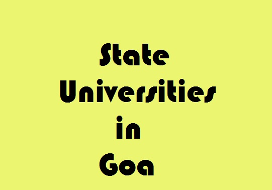 State Universities in Goa