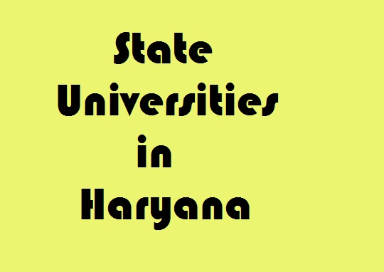 State Universities in Haryana