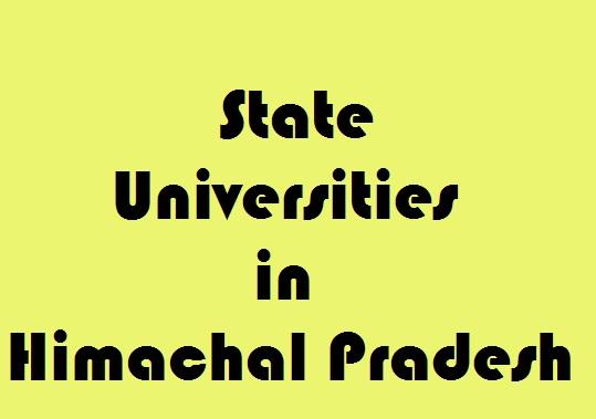 State Universities in Himachal Pradesh