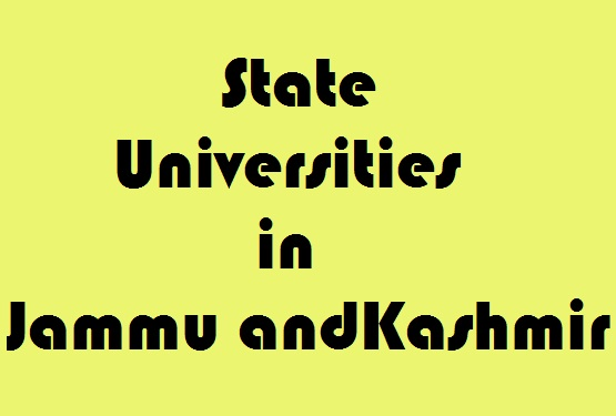 State Universities in Jammu and Kashmir