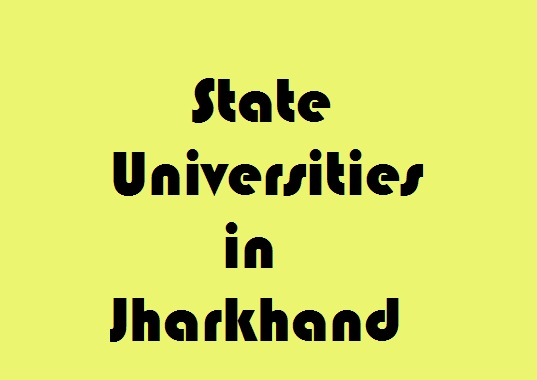 State Universities in Jharkhand