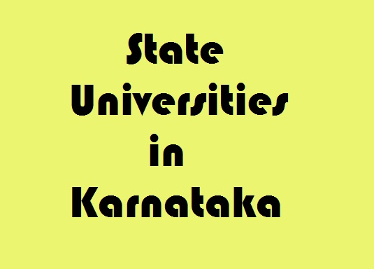 State Universities in Karnataka