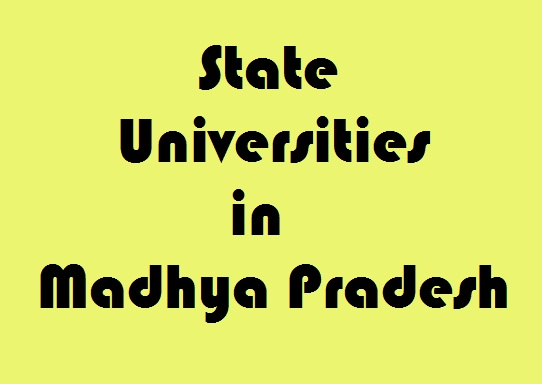 State Universities in Madhya Pradesh
