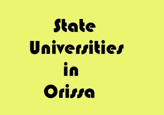 State Universities in Orissa