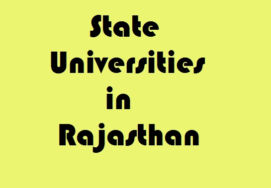 State Universities in Rajasthan