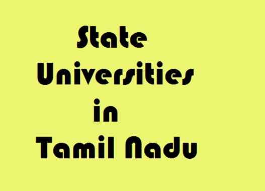 State Universities in Tamil Nadu