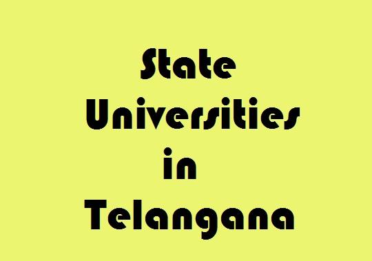 State Universities in Telangana